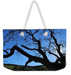 Tree In Rural Hills - Silhouette View Weekender Tote Bag