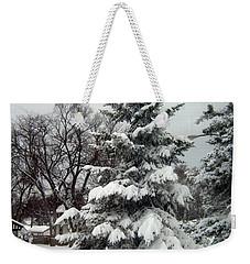 Tree In Snow Weekender Tote Bag