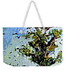 Tree In Summer Sun Mixed Media Weekender Tote Bag