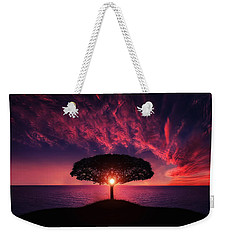 Tree In Sunset Weekender Tote Bag