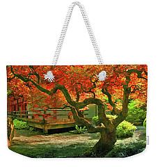 Tree, Japanese Garden Weekender Tote Bag by Marius Sipa