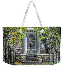 Weekender Tote Bag featuring the photograph Tree Lined Formal Garden by Colleen Kammerer