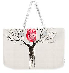 Tree Of Hearts Weekender Tote Bag by Stefanie Forck