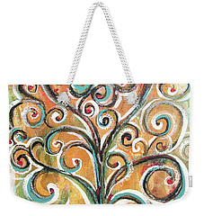 Weekender Tote Bag featuring the painting Tree Of Life by Chris Hobel