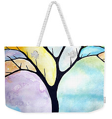 Weekender Tote Bag featuring the painting Tree Of Life by Edwin Alverio