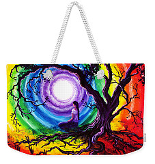 Tree Of Life Meditation Weekender Tote Bag by Laura Iverson