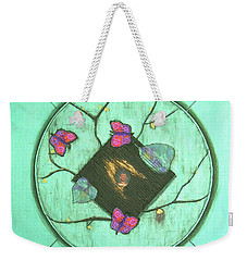 Weekender Tote Bag featuring the painting Tree Of Life by Mini Arora