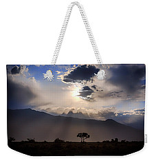 Weekender Tote Bag featuring the photograph Tree Of Light by Cat Connor