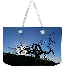 Weekender Tote Bag featuring the photograph Tree Of Light Silhouette Hillside by Matt Harang