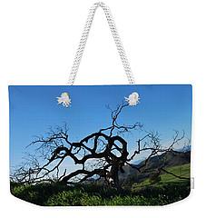 Weekender Tote Bag featuring the photograph Tree Of Light - Slanted Horizon by Matt Harang