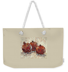 Three Pomegranates Weekender Tote Bag by Jill Musser