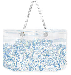Weekender Tote Bag featuring the photograph Tree Silhouette Blue by Jennie Marie Schell