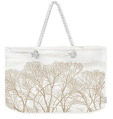 Weekender Tote Bag featuring the photograph Trees Silhouette Brown by Jennie Marie Schell