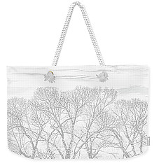 Weekender Tote Bag featuring the photograph Tree Silhouette Gray by Jennie Marie Schell