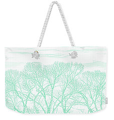 Weekender Tote Bag featuring the photograph Tree Silhouette Teal by Jennie Marie Schell
