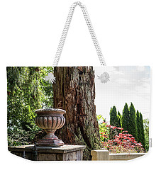 Tree Stump And Concrete Planter Weekender Tote Bag