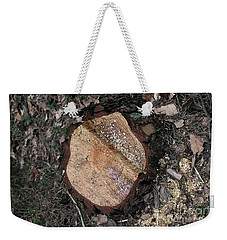 Weekender Tote Bag featuring the photograph Tree Stump by Dariusz Gudowicz