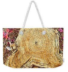 Tree Stump Mandala Weekender Tote Bag