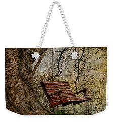 Tree Swing By The Lake Weekender Tote Bag by Deborah Benoit