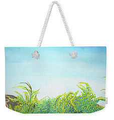 Tree Tops Weekender Tote Bag by Mary Ellen Frazee