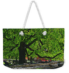 Tree With Colonial Fence Weekender Tote Bag
