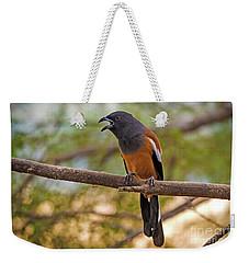 Treepie Calling Weekender Tote Bag