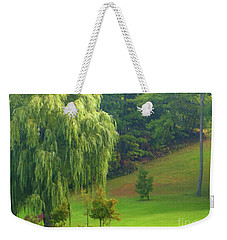 Trees Along Hill Weekender Tote Bag