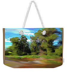 Trees Along The River Weekender Tote Bag