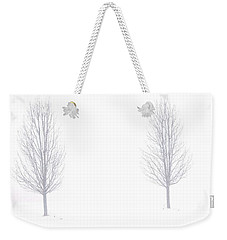 Trees And Snow Weekender Tote Bag by Daniel Thompson