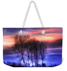 Trees And Twilight Weekender Tote Bag