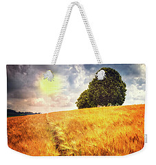 Weekender Tote Bag featuring the photograph Trees At The Top by Debra and Dave Vanderlaan