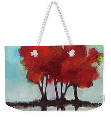 Weekender Tote Bag featuring the painting Trees For Alice by Michelle Abrams