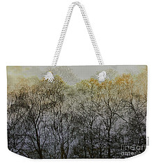 Trees Illuminated By Faint Sunshine, Double Exposed Image Weekender Tote Bag by Nick Biemans