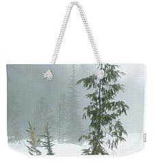 Trees In Fog Weekender Tote Bag