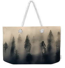 Trees In The Fog Weekender Tote Bag