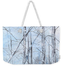Trees In Winter Snow Weekender Tote Bag