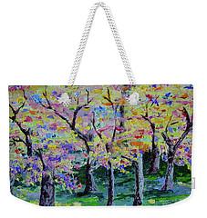Trees On Hideaway Ct Weekender Tote Bag by Lisa Rose Musselwhite