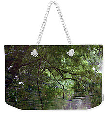 Trees Reflected In A Woodland Stream 2867 H_2 Weekender Tote Bag