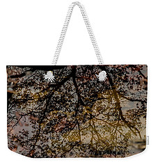 Weekender Tote Bag featuring the photograph Tree's Reflection by Iris Greenwell