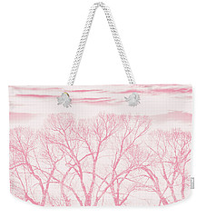 Weekender Tote Bag featuring the photograph Trees Silhouette Pink by Jennie Marie Schell