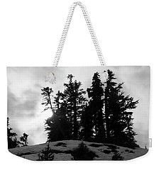 Weekender Tote Bag featuring the photograph Trees Silhouettes by Yulia Kazansky