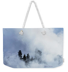 Trees Through Firehole River Mist Weekender Tote Bag