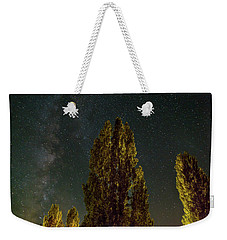 Trees Under The Milky Way On A Starry Night Weekender Tote Bag