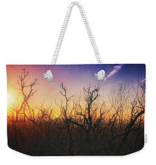 Weekender Tote Bag featuring the photograph Treetop Silhouette - Sunset At Lapham Peak #1 by Jennifer Rondinelli Reilly - Fine Art Photography