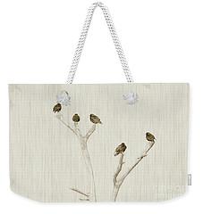 Treetop Starlings Weekender Tote Bag by Benanne Stiens