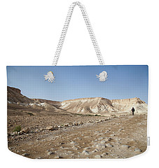 Trekker Alone On The Wild Way Weekender Tote Bag by Yoel Koskas
