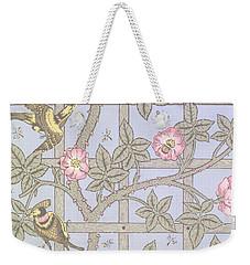 Trellis   Antique Wallpaper Design Weekender Tote Bag by William Morris