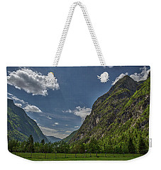 Weekender Tote Bag featuring the photograph Trenta Valley - Slovenia by Stuart Litoff