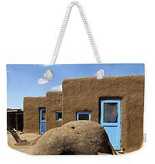Tres Casitas Taos Pueblo Weekender Tote Bag