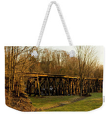 Weekender Tote Bag featuring the photograph Tressel View Sunset  by Betty Pauwels